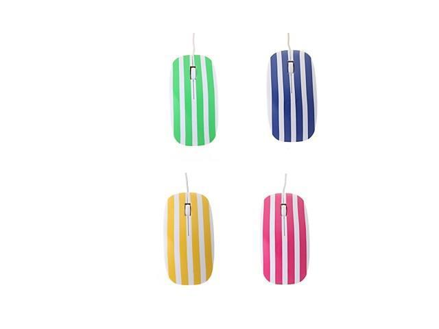 High-speed Stripe 1200DPI Optical USB2.0/1.1 Wired Mouse(Assorted Colors) , Yellow
