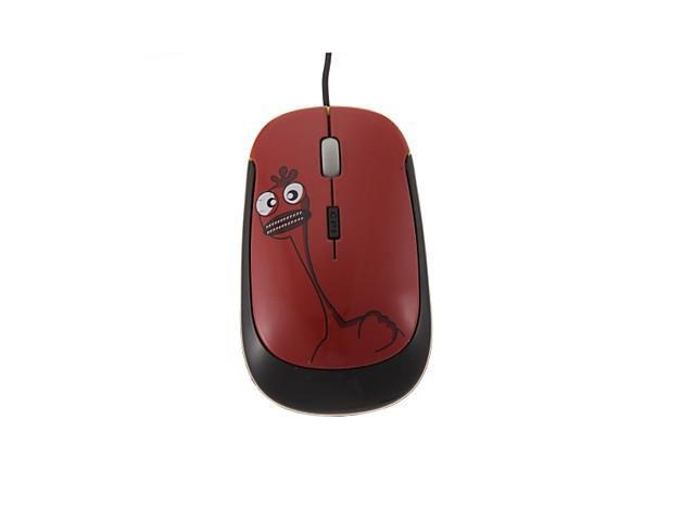 Red Chicken Little Monster Optical USB2.0 Wired Mouse for Notebooks