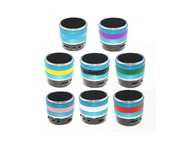 YX-S08 RGB USB Flash Drive Mini Bluetooth Speaker with Mic TF Port for Phone/Laptop/Tablet PC(Assorted Color) , Green