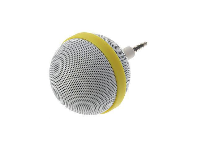 Roundness Style Portable Speaker for iPhone/Samsung /HTC/Motorola/ Nokia(White)