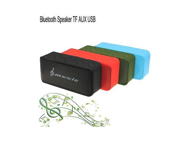 Hi-Fi Portable MiNi Stereo Bluetooth Speaker for TF AUX Mic Handfree for iPhone Samsung + Other , Green