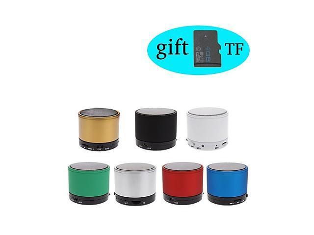 S10 MP3 Function Mini Bluetooth Speaker with TF Mic Port (Assorted Color)+ 4GB TF Card Free Gift , Green