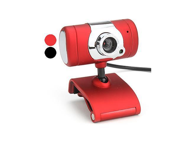 10 Megapixel T-Style USB 2.0 Webcam with Microphone (Assorted Colors) , Red