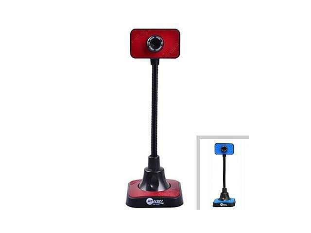 Jeway JW-5329 High Foot 1080P HD 2.0 MP USB Computer Webcam (130cm-Cable) , Red