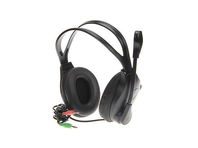 Over-ear Stereo Headphones with Mic(Black)