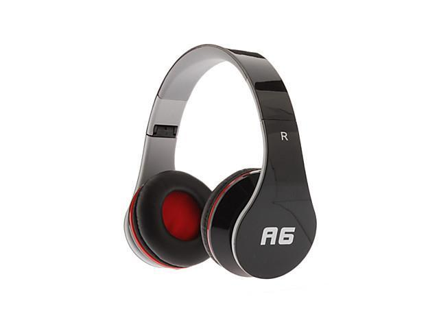 A6 Dynamic Stereo Music Comfortable Headphone Black