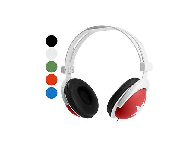 Stars Mix Style Stereo Headphone (Assorted Colors) , White