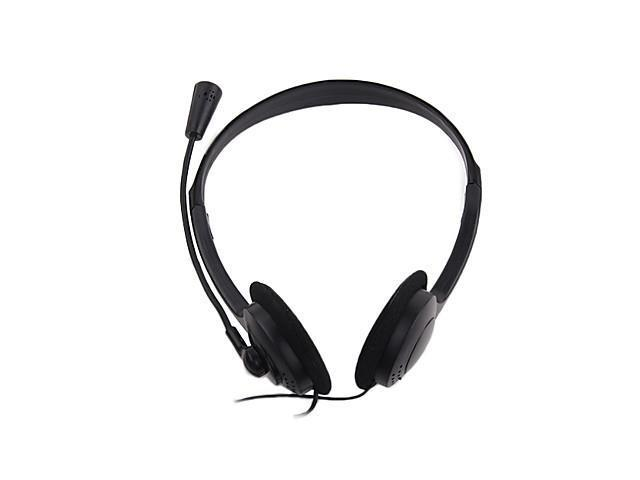 Portable 3.5mm Headphone Headset with Microphone for PC Laptop