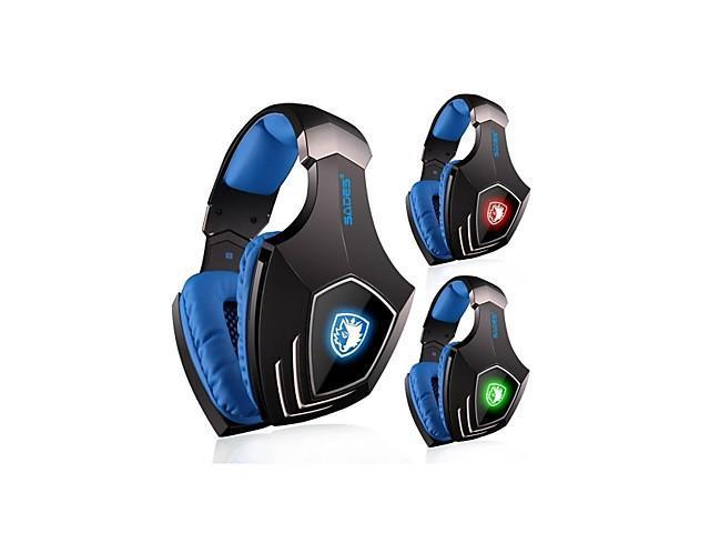 SADES A60 Over-Ear Gaming Headset Vibration Function 7.1 Surround Sound Professional for PC