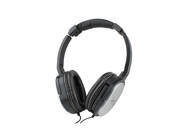 Kanen Stereo Powerful Bass Comfortable Design Headphone with Microphone and Volume Control (Silver)