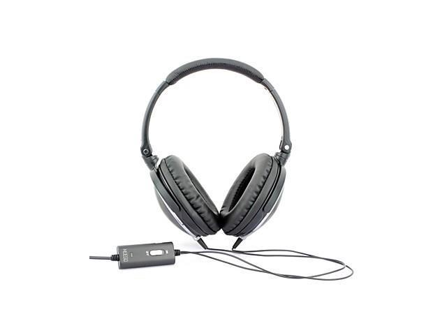 MEIEGO Portable Black DJ Headphones, Noise Cancelling Headphones , Black