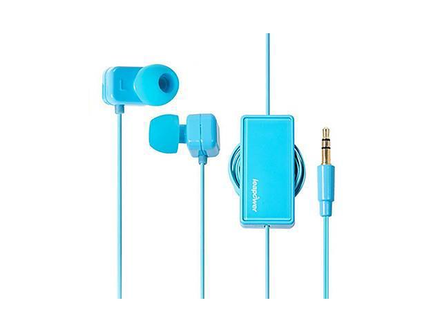 leapower winding headphones retractable line in-Ear Earphones , Blue