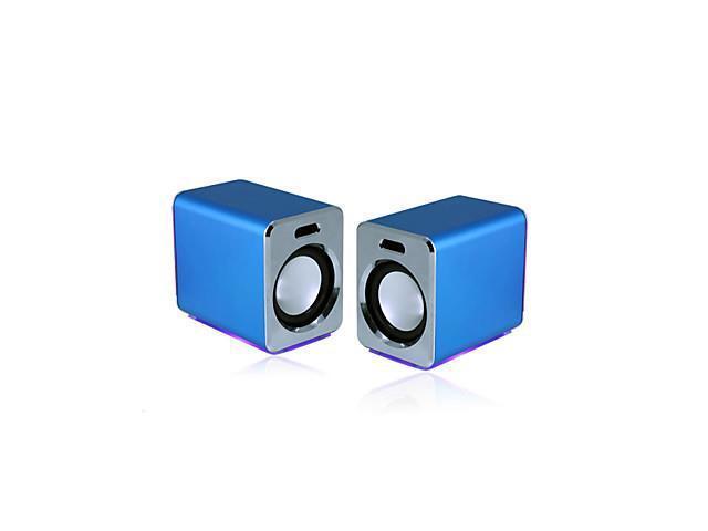 027 Bass Portable Loudspeaker Box for PC/MP3 (Blue)