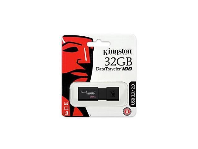 Genuine Kingston DataTraveler 100 G3 USB 3.0 Flash Drive (32GB)