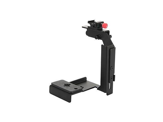Universal Flash Metal Bracket Mount for Camera-Black , Black