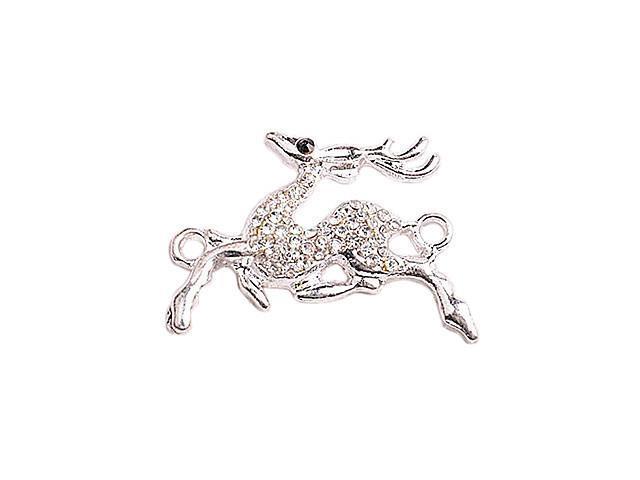 Alloy Silver Running Deer Connectors for Bracelet