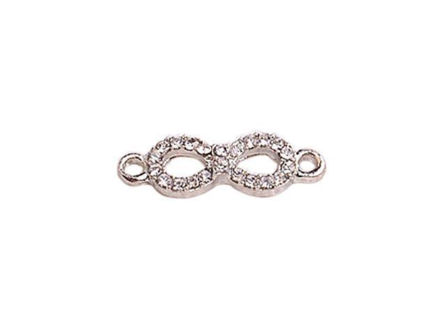Alloy Silver Plated Infinity Connectors for Bracelet