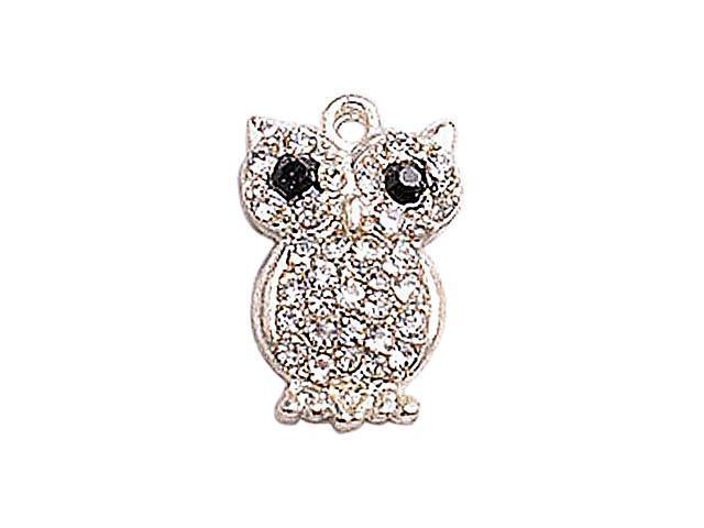 Alloy Silver Plated Owl Connectors for Bracelet
