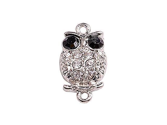 Alloy Silver Owl Connectors for Bracelet