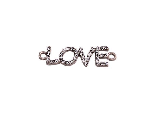 Alloy Silver Love Connectors for Bracelet