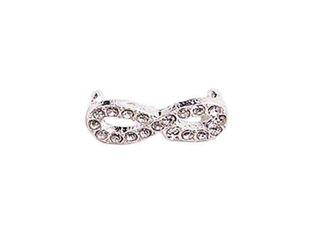 Alloy Silver Plated Glasses Connectors for Bracelet