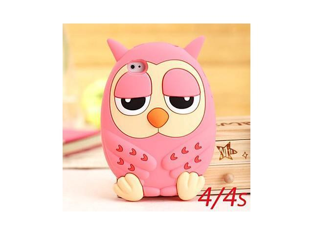 Cute Owl Silicone Cases for iPhone 4/4S (Assorted Colors) , Green