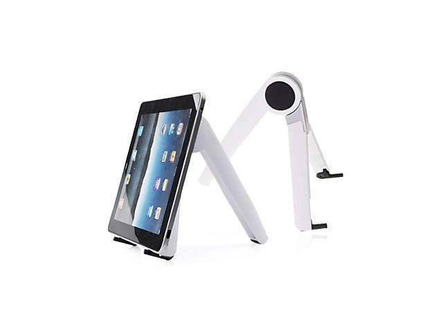 Portable Adjustable Folding Tablet Stand Mount for iPad, iPad 2 and The new iPad (White)