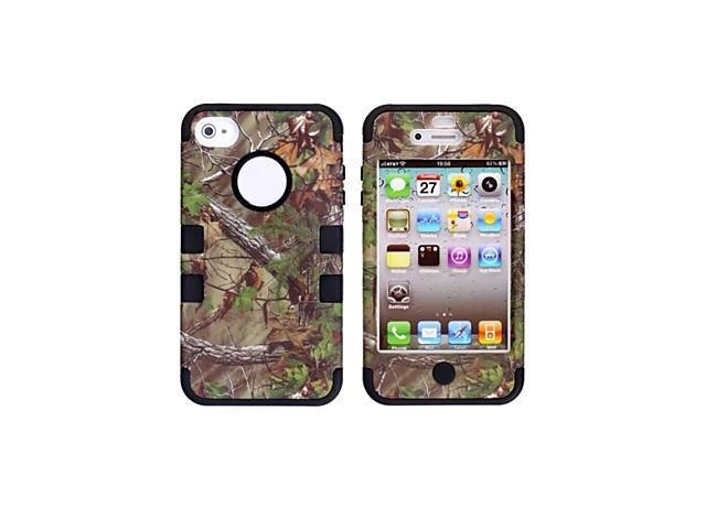 Pine Tree Pattern Protective Silicone Case for iPhone 4/4S (Assorted Colors) , Green