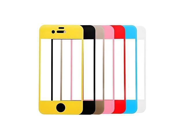 Link Dream Colorful Premium Tempered Glass Screen Protector with Holder for iPhone 4/4s , Yellow