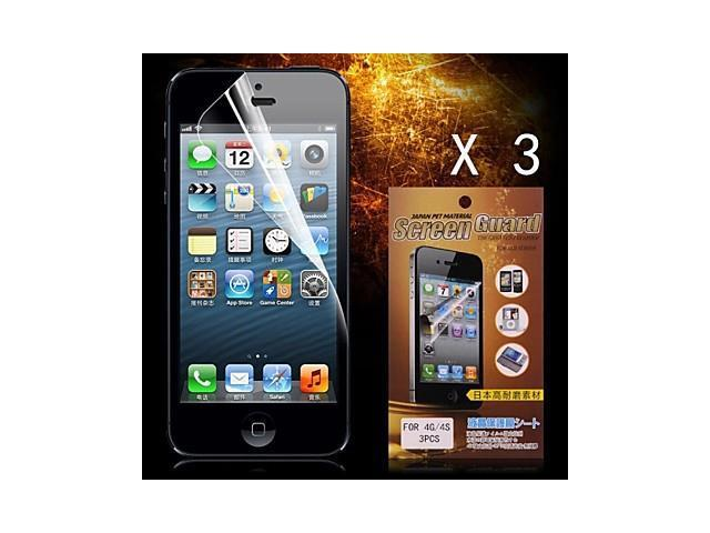 Protective HD Screen Protector for iPhone 4/4S(3PCS)