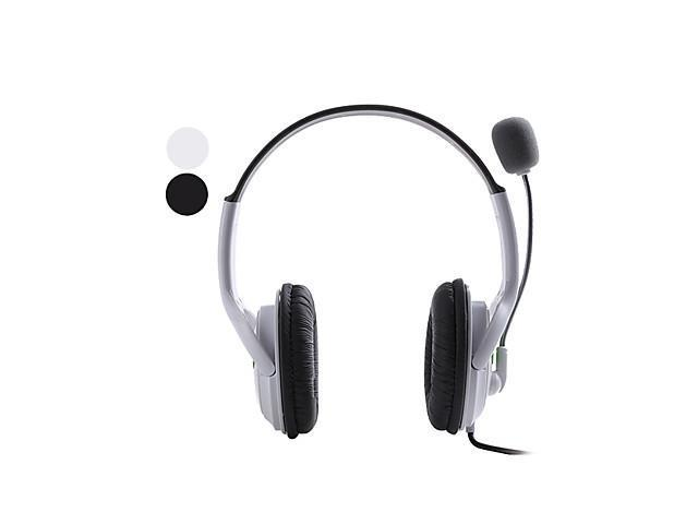 Universal USB Microphone Headset for PS3 and PC (Black) , White