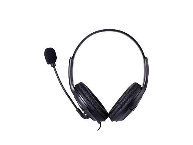 Professional Wired Gaming Headset w/ Microphone for PS4 - Black (3.5mm Plug / 120cm-Cable) , Black