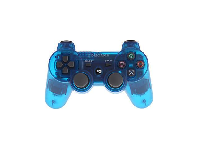 Game Wireless Bluetooth Controller for PS3 PC (Transparent Blue)