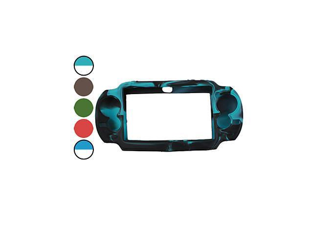 Dual Color Protective Silicon Case for PS Vita (Assorted Color) , Green