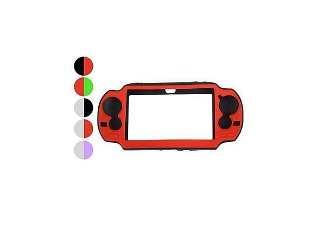 Protective Dual-Color Silicon Case for PS Vita (Assorted Colors) , Green