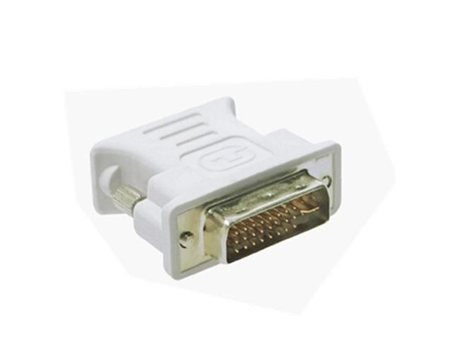 DVI 24+5 Male to VGA Female Adapter White