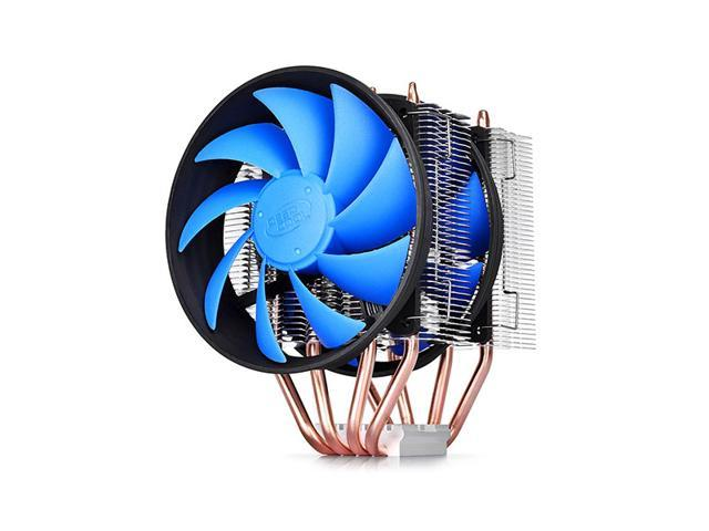 4 Heat Copper Pipes Dual 120mm Fan CPU Cooler Heatsink for Intel LGA 775/1150/1155/1156/1366/2011 AMD FM2/FM1/AM3+/AM3/AM2+/AM2