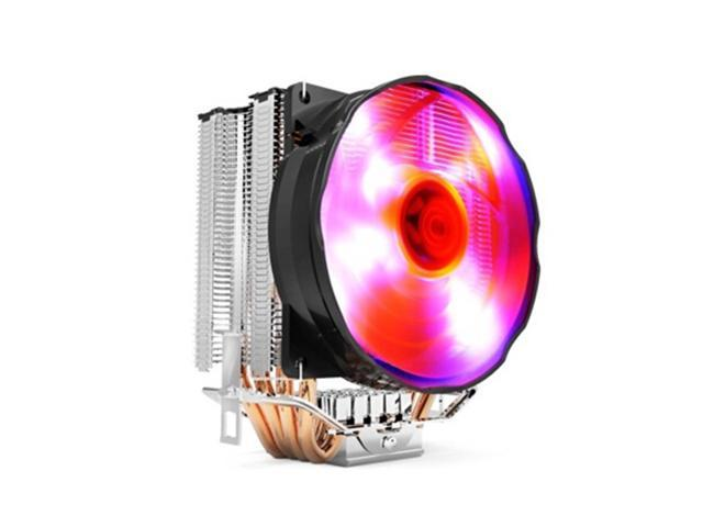 4 Heat Pipes 4 Pin 100mm PWM Fan CPU Cooler Heatsink with LED Light for Intel LGA775/1150/1155/1156 AMD AM2/AM2+/AM3/FM1