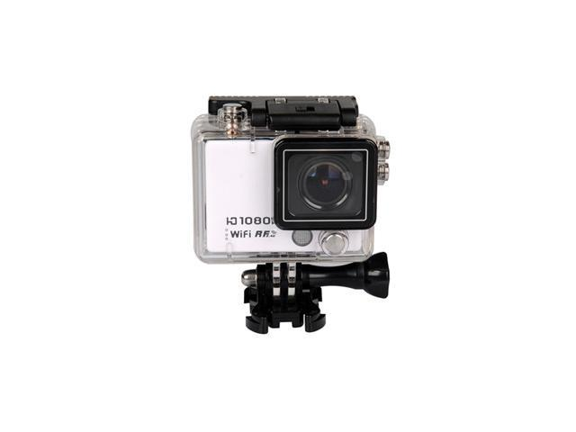 New White AT300 WiFi 160 degree Full HD 1080P Sport Waterproof Camera with Mic/Speaker