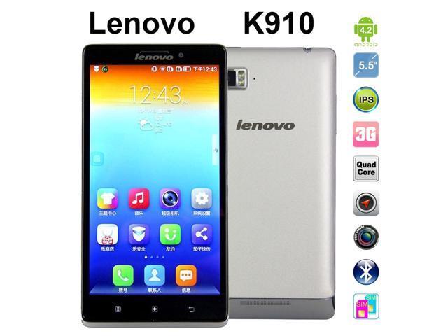 Gray Smartphone Lenovo K910 VIBE Z Mobile Phones 5.5 inch Dual Sim Unlocked Cell Phones