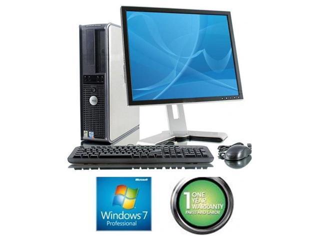 Dell Optiplex GX620 Desktop Computer Set - 4 GB RAM, 80 GB HDD, 17