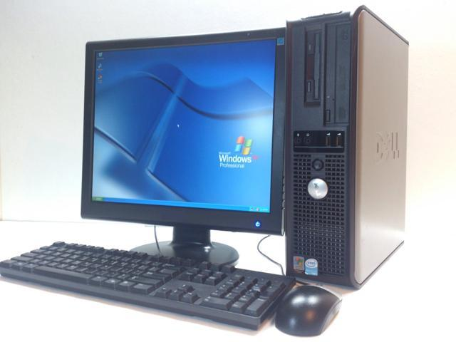Dell Optiplex GX620 Desktop Computer Set - 4 GB RAM, 80 GB HDD, 17