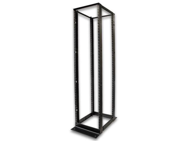 Navepoint 45U Professional 4-Post IT Open Frame Server Network Relay Rack 7 Feet Tall Black