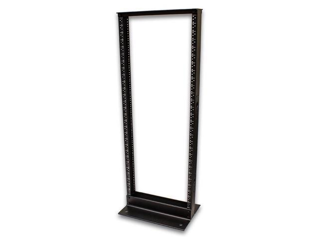 Navepoint 28U Professional 2-Post IT Open Frame Server Network Relay Rack 4.5 Feet Tall Black