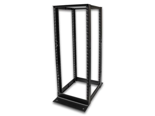Navepoint 28U Professional 4-Post IT Open Frame Server Network Relay Rack 4.5 Feet Tall Black