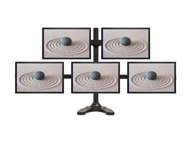 NavePoint Penta LCD Monitor Desk/Mount Free Standing Adjustable 5 Screens upto 24-Inches Black