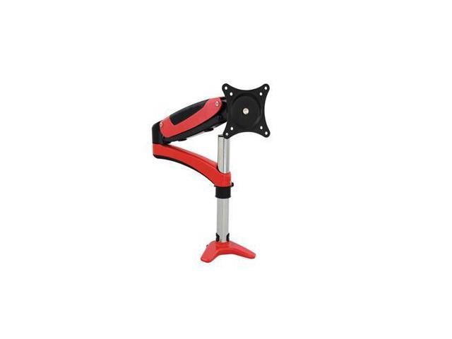 SIIG CE-MT1K12-S1 Full-Motion Easy Access Single Monitor Desk Mount - Red
