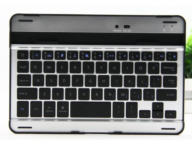 Aluminum Bluetooth Wireless Keyboard for iPad mini 1 2(Black/White)