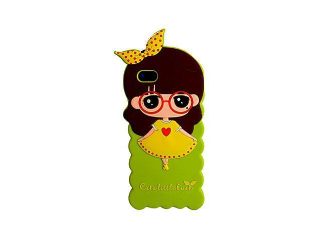 Topforcity Skirt Girl Silicon Case for iPhone 5/5S(Green)