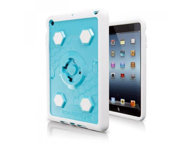 Rokform RokShield v3 iPad Mini Mountable Protective Case White/Aqua/White